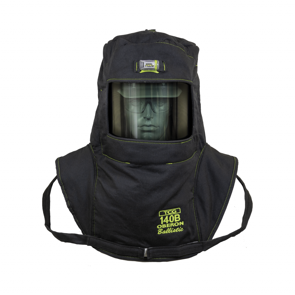 Oberon TCG7B-HVSL TCG140B™ Series Arc Flash Hood, Coat, and Bib Suit Sets, Category 4+, 140 cal/cm2