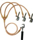 Arcus 512156 Three Phase Earthing and Short-Circuting Device with Universal Clamp, Lead cross section [mm²]: Short-circuiting cable: 25 Earthing cable: 25, Earth Connection A (⌀20)