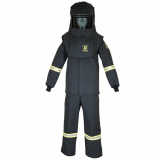 Oberon TCG4B+HVSL TCG40™ Series Arc Flash Hood, Coat, and Bib Suit Set w/ Light and Vent, Category 4, 46 cal/cm2