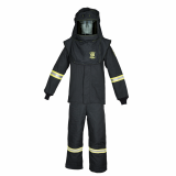 Oberon TCG6B-HVSL TCG100™ Series Arc Flash Hood, Coat, and Bib Suit Set w/ Light and Vent , Category 4+, 100 cal/cm2