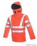 ProGARM 9440 ARC Flash Hi Vis Orange Arc Flash Protection Waterproof Jacket and Flame Resistant Fabric, 47cal/cm²
