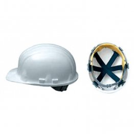 Boddingtons Electrical 662000 White Safety Helmet, Adjustable Chin Strap, including Sweat Band