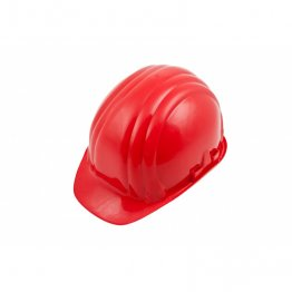 Boddingtons Electrical 662002 Red Safety Helmet, Adjustable Chin Strap, including Sweat Band