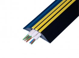 Boddingtons Electrical High Visible PVC Black and Yellow Cable Protect Hazard, 30 x 10mm Hole Size , in 9M Length