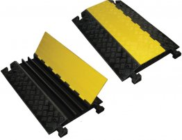 Boddingtons Electrical 3 Channel Cable and Hose Ramps, 970 x 580 x 80mm, Maximum Hole Size 52x50mm