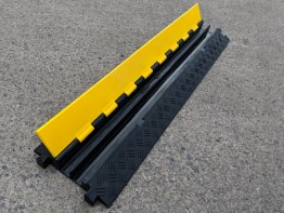 Boddingtons Electrical 2 Channel Cable and Hose Ramps, 250 x 50 x 1000 mm, Hole Size are 32mm x 34mm
