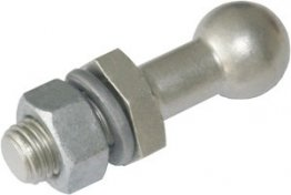 Arcus 515106 Ball Point Connector - Straight with threaded bolt in one piece, Ball Ø 20 mm