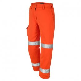ProGARM 4614 Arc Flash Flame Resistant Category 1 Orange Ladies Trousers, 9.8cal/cm²
