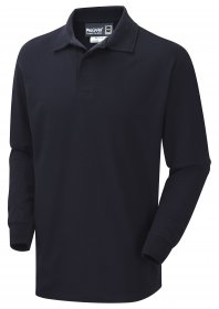 ProGARM 5280 Arc Flash Flame Resistant Navy Mens Polo Shirt, Class 1, ATPV = 7cal/cm²