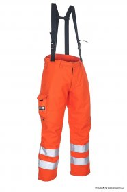 ProGARM 9660 Arc Flash Hi Vis Orange Arc Flash Protection Waterproof Salopette and Flame Resistant, 47cal/cm²