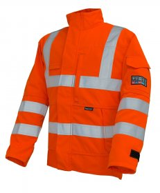 ProGARM 4608 Arc Flash Flame Resistant Class 1 Hi Vis Orange Mens Jacket, 9.8cal/cm²