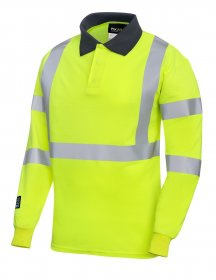 ProGARM 5286 Arc Flash Flame Resistant Class 1 Hi Vis Mens Polo Shirt, 4kA