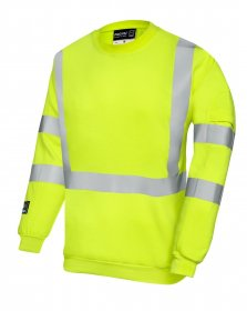 ProGARM 5626 Arc Flash Class 1 Hi Vis Yellow Mens Sweat Shirt, 4kA, 13.2cal/cm²