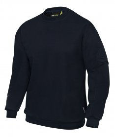 ProGARM 5630 Arc Flash Flame Resistant Mens Navy Sweatshirt Class 2 , 14.4cal/cm2 protection