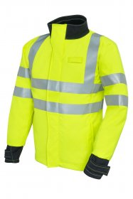 ProGARM 9930 Arc Flash Hi Vis Yellow Mens SoftShell Jacket, Class 2 ,ATPV=28cal/cm2