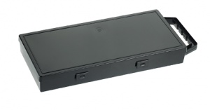 Boddingtons Electrical Black Polypropylene Glove Storage Box (370 x 170 x 52mm) with Handle