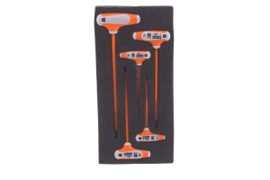 Boddingtons Electrical 117100 P Handle 5 Piece Allen Keys Set including Sizes 2-6