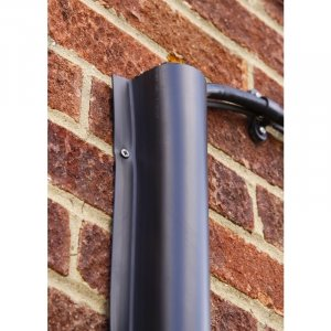 Boddingtons Electrical C18666 Black High Density Polyethylene (HDPE) Anti-Vandal Cable Guard , ø 19mm x 3.0m Length