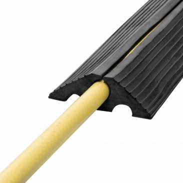 Boddingtons Electrical Black Recycled Rubber Cable Protect Heavy Duty, 20mm Hole Size in 9M Length