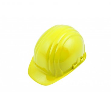 Boddingtons Electrical 662001 Yellow Safety Helmet, Adjustable Chin Strap, including Sweat Band