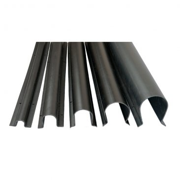 Boddingtons Electrical C18765 Black High Density Polyethylene (HDPE) Anti-Vandal Cable Guard , ø 80mm x 3.0m Length