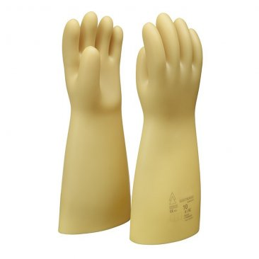 Boddingtons Electrical Insulating Natural Rubber Safety Gloves, 7500 Max Working Voltage, Class 1, Length 360mm, Thickness 1.5mm, Category AZC, Size 9