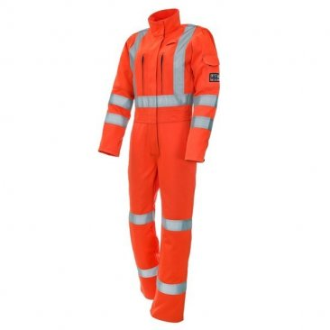 ProGARM 4692 Arc Flash Flame Resistant Class 1 Orange Ladies Coverall, 9.8cal/cm²