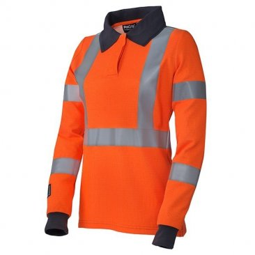 ProGARM 5292 Arc Flash Flame Resistant Class 1 Orange Ladies Polo Shirt, 4kA