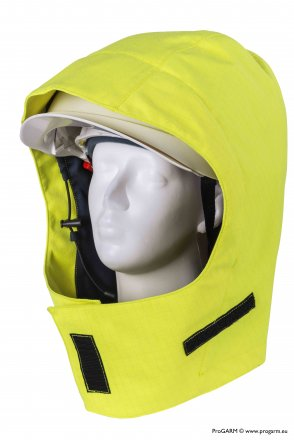 ProGARM 9751 Hi-Vis Yellow Waterproof Helmet Hood