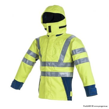 ProGARM 9750 Hi Vis Arc Flash Protection Waterproof Jacket with Flame Resistant Fabric, 47cal/cm²